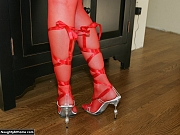 Milf in red nylons