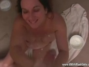 BBW Makes a Creamy Hand Job Awesome