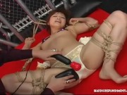 Japanese Teen tied Up And Pussy Tormented By FemDom
