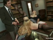 Schoolgirl and teacher submit together