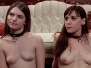 2 slave babes at BDSM party