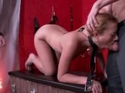 Teen slave broken in hard