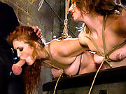 Two subs are bound and trained to be slaves