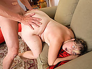 Chubby amateur Wendy taking facial after her first bbw sex experience on camera
