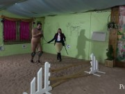 Equestrian Basics - Mistress Eclipse instructs guy how to be a good pony