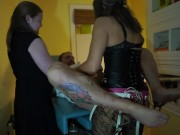 Strapon Gangbang in Doctors office 5 to 1