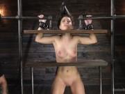 Girl Next Door Serena Blair Cums and Gets Punished in Metal