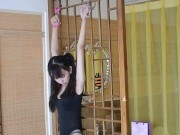 Chinese cute girl handcuffs BDSM bondage