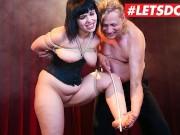 LETSDOEIT - Chubby German Teen Gets Rough Kinky Fetish Fantasy Come True
